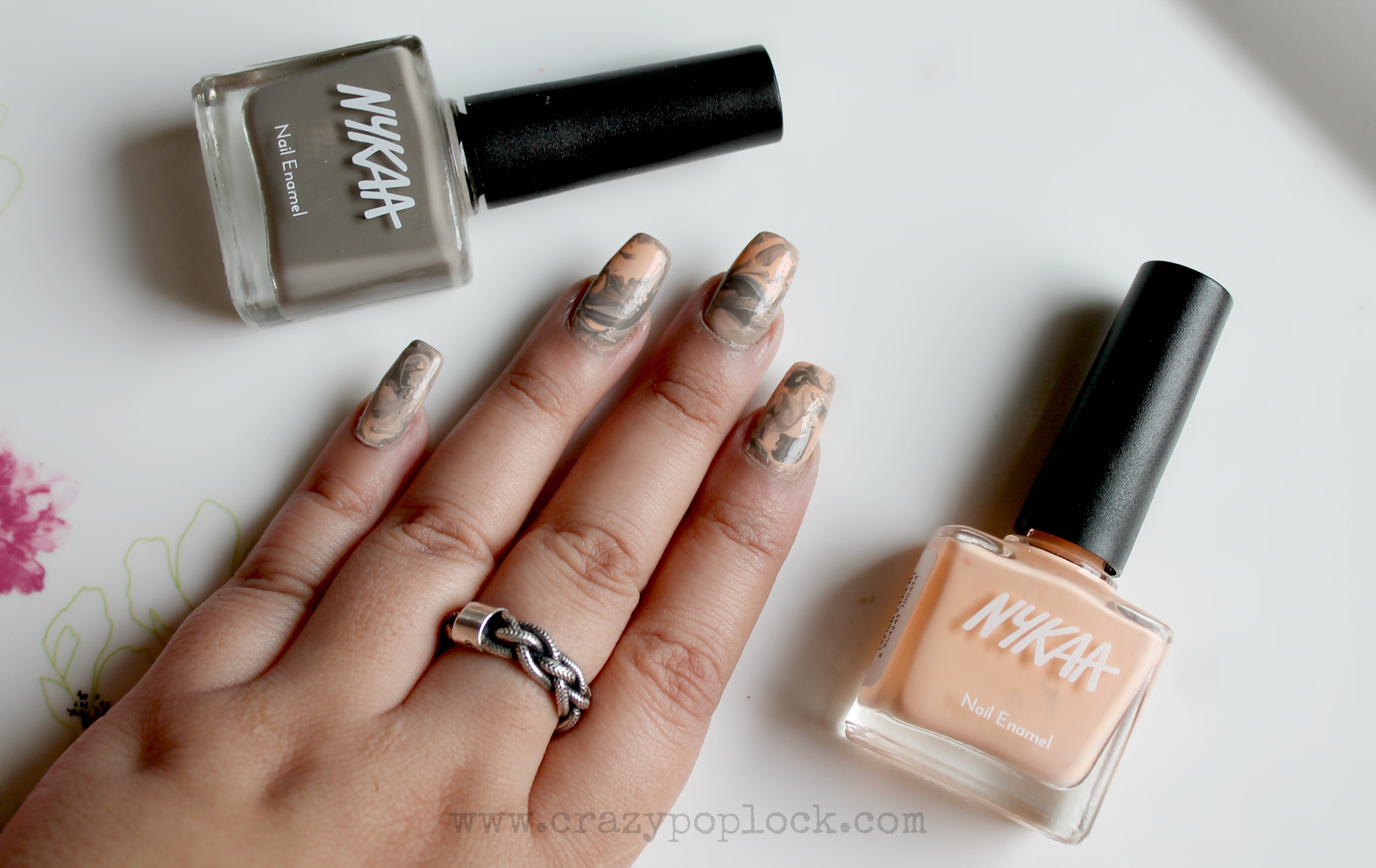 Marble Nail Art Without Using Water Tutorial | B h a r t i P u r i ...